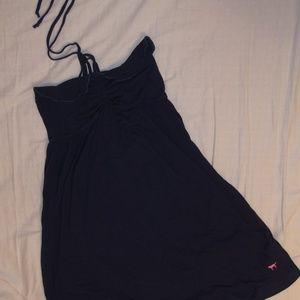Navy Blue Halter CoverUp/Dress